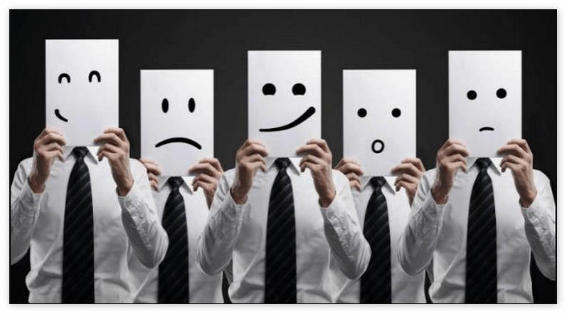 Изображение эмоций, которые мы испытываем во время работы