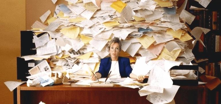 изображение показывающее неэффективность записи на бумаге